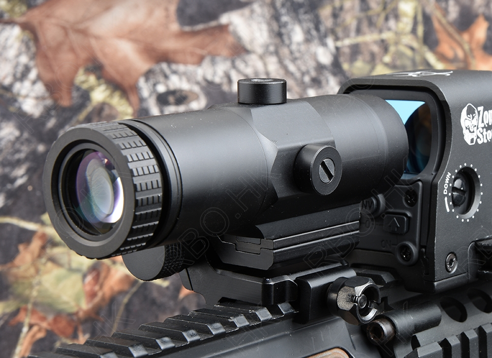 Pyramid tactical 3x Magnifier holographic 1x red dot sight scope lens Magnifier for picatinny rail side mount R4193 the red pyramid