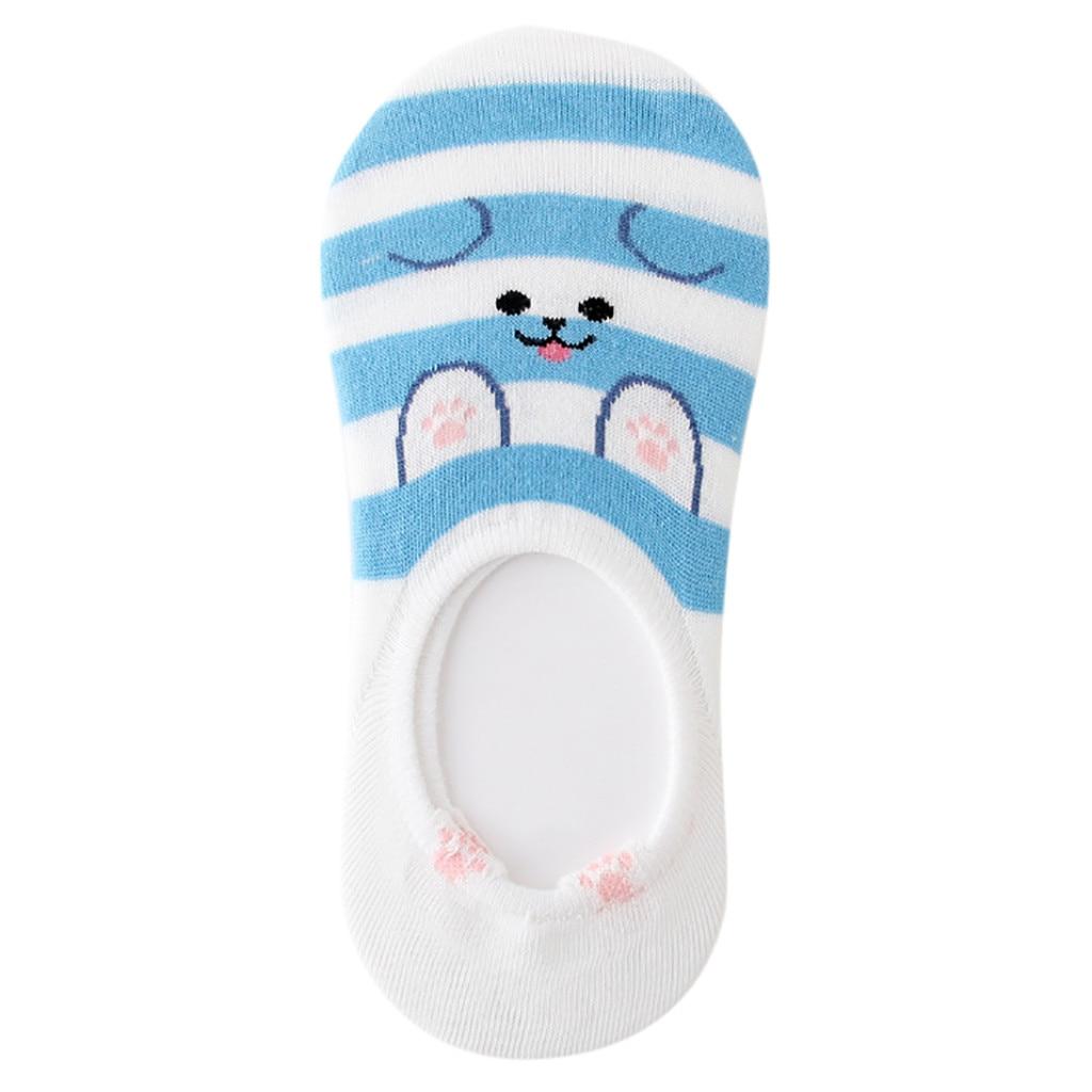1 Paar Frauen Baumwolle Socken Hausschuhe Tier Charakter Print Frauen Winter Boot Socken Frauen Cartoon Candy Farbe Lustige Socken