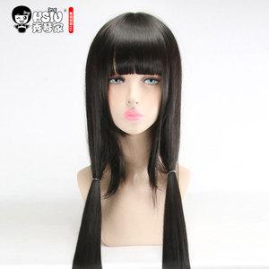 Image 5 - HSIU Harukawa Maki Cosplay Wig New Danganronpa V3 Costume Black long straight Play Wigs Halloween Costumes Hair free shipping