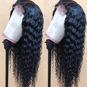 Image 4 - Deep Wave 4x4 Lace Closure Human Hair Wigs For Women Pre Plucked Hairline With Baby Hair Brazilian Remy Hair Bleached Knots