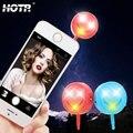 Hotr selfie selfie flash fill-in luzes lanterna lâmpada fria quente luz 3.5mm lâmpada led universal 3 tampa de borracha mudou de cor