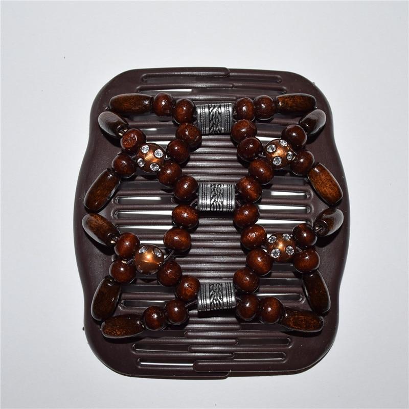 표준 빗 갈색 구슬과 사각형 실버 비즈 비즈 50 개/몫 매직 빗-에서헤어 주얼리부터 쥬얼리 및 액세서리 의  그룹 1