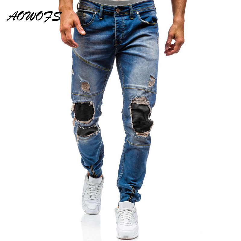 AOWOFS Ripped Jeans Men 2017 Spring Fashion Rip Jeans Men ...