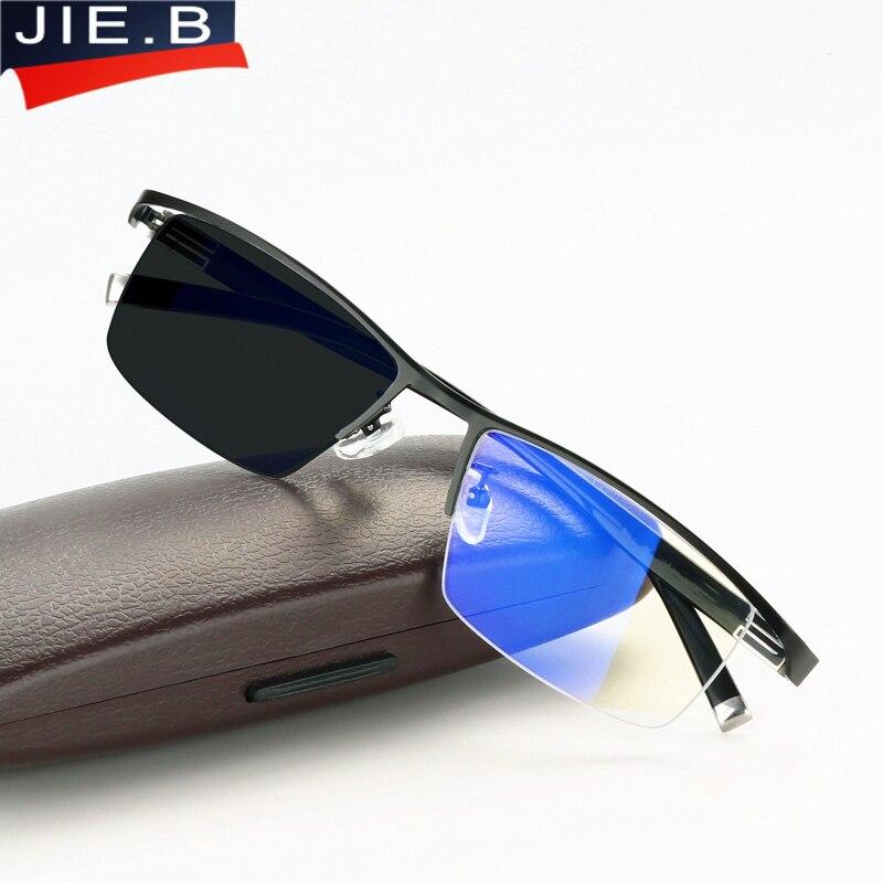 283369c4ed3be5 Anti Bleu Rayons Transition Photochromiques Lunettes de Lecture pour Hommes  UV Protection, Anti Éblouissement Presbytie Lunettes avec dioptries glasse  dans ...