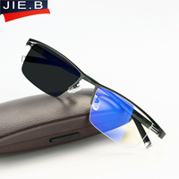Anti Blue Rays Transition Photochromic Reading Glasses for Men UV Protection, Anti Glare Presbyopia Eyewear with diopters glasse