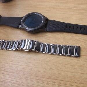 Image 4 - 20 ミリメートル 22 ミリメートルセラミックとステンレス鋼時計バンド黒時計バンドストラップ蝶バックルリストバンドブレスレットポリッシュシンナー