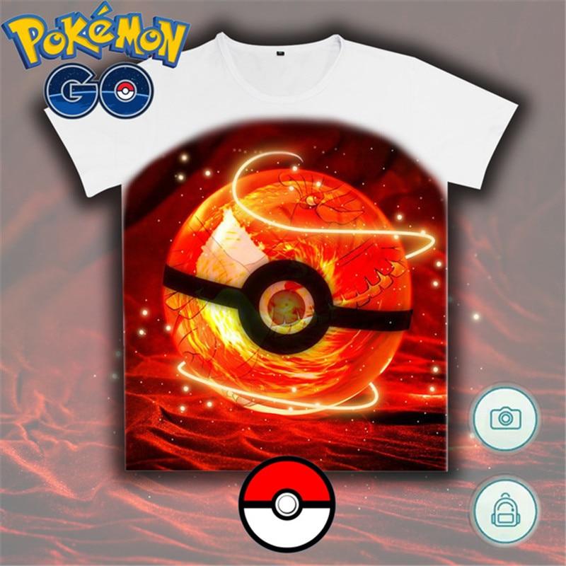 pokemon go game T shirt pokemon Summer Funny new cartoon t-shirt pokemonGo Pocket Monster Pika Pikachu PMGO shirt Anime tshirt