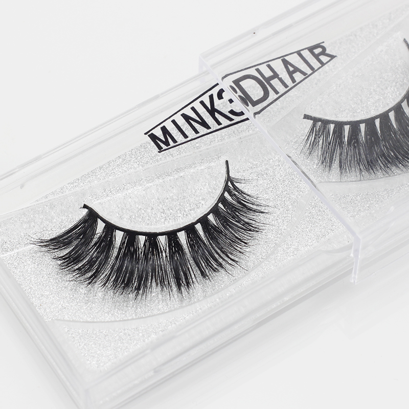 1 Pair Real 3D Mink Lashes Soft Natural False Eyelashes Mink Eyelashes Makeup Long Eye Lashes Eyelash Extension