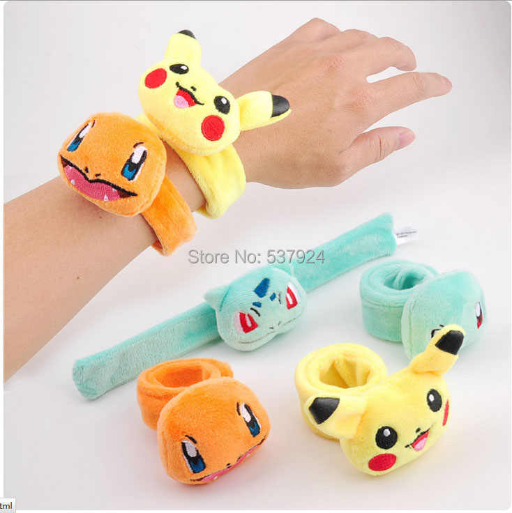 ใหม่ 4 รูปแบบ Pikchu Bulbasaur Charmander Squirtle Plush Hand BAND-CPPY