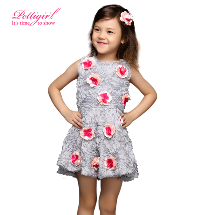 7fc3df226f89c ... Petal Red Flower Girl Princess Dresses Infant Girls Summer Retail Kids  Clothes GD31115 35 from Reliable dress stick suppliers on Little Miss  Apparel Co.