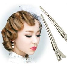 Модный головной убор 10 шт. профессиональный салон Металл Серебро парикмахерские клюв утки Аллигатор женские заколки для волос