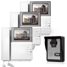 DIYSECUR 800 x 480 HD 4.3inch Video Intercom Video Door Phone Doorbell 600TV Line Outdoor Unit for Home / Office Security System