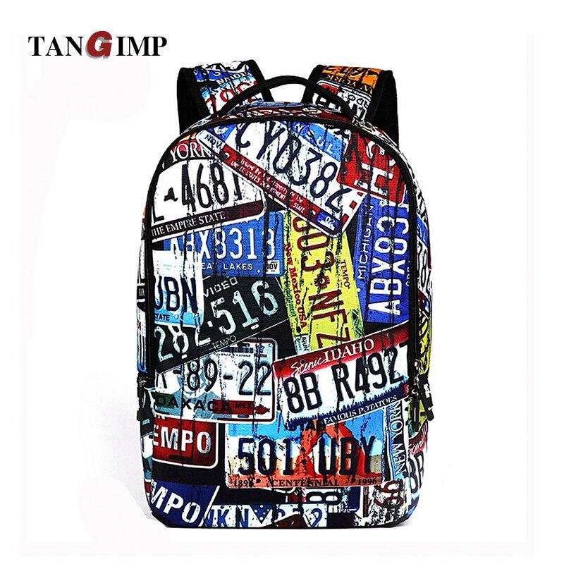 TANGIMP18 Cool 3D Crazy Shoes Plate Printing Backpack Mens Backpack Bag for Boy Laptop School College Student mochila feminina
