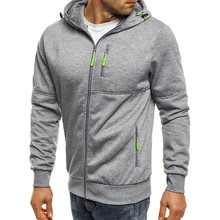 New Mens Hoodies Casual Sports Fitness Design Spring and Autumn Winter Long-sleeved Cardigan Hooded Men's Hoodie Street clothing