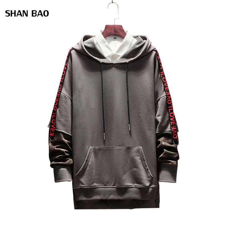 Plus Size 5XL 2018 New Fashion Hoodies Men Autumn Letter Patch Design Hooded Sweatshirt Men Trend Clothing Mens Casual Hoodies in Hoodies amp Sweatshirts from Men 39 s Clothing