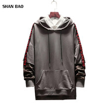 Plus Size 5XL 2018 New Fashion Hoodies Men Autumn Letter Patch Design Hooded Sweatshirt Men Trend Clothing Mens Casual Hoodies все цены