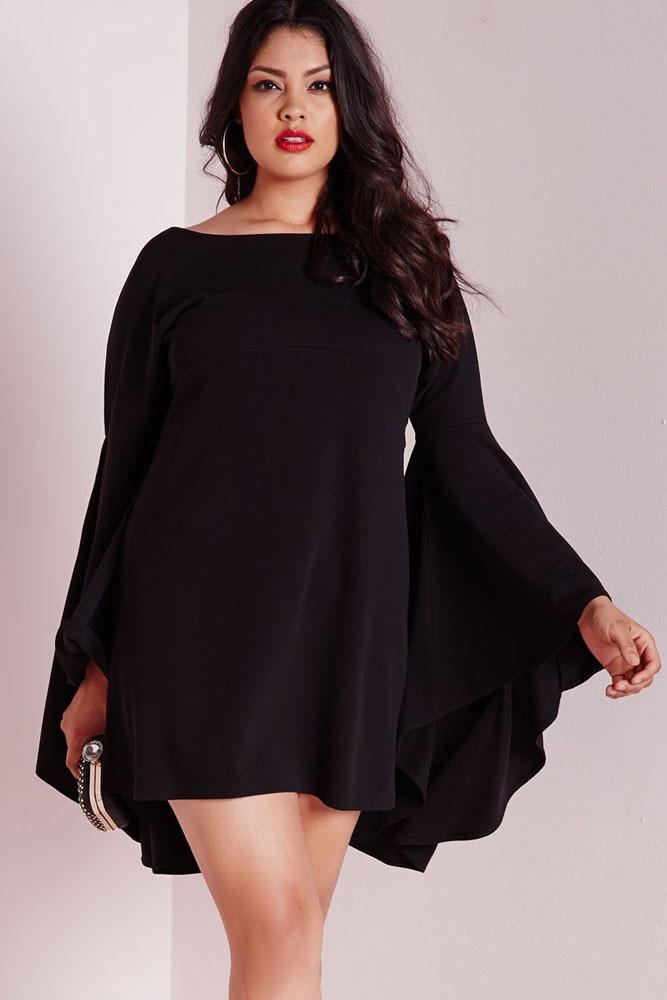 Autumn Winter Plus Size Vestidos Women Fashion Slim Long Flare