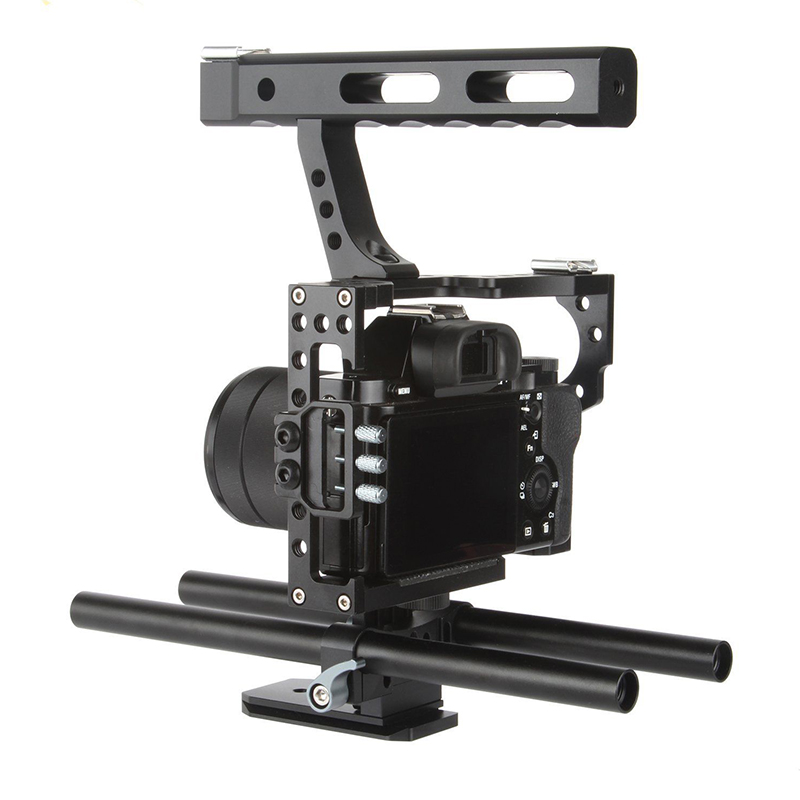 VELEDGE VD-07 Rod Rig DSLR Camera Video Cage Kit Stabilizer For Sony GH4 A7S A7 A7R A7RII A7SII Camera Accessories Durable dslr rod rig camera video cage kit