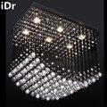 LED contemporain rectangle lampe de haute qualité restaurant lumières chambre lustre en cristal de haute qualité L600xW400xH550mm