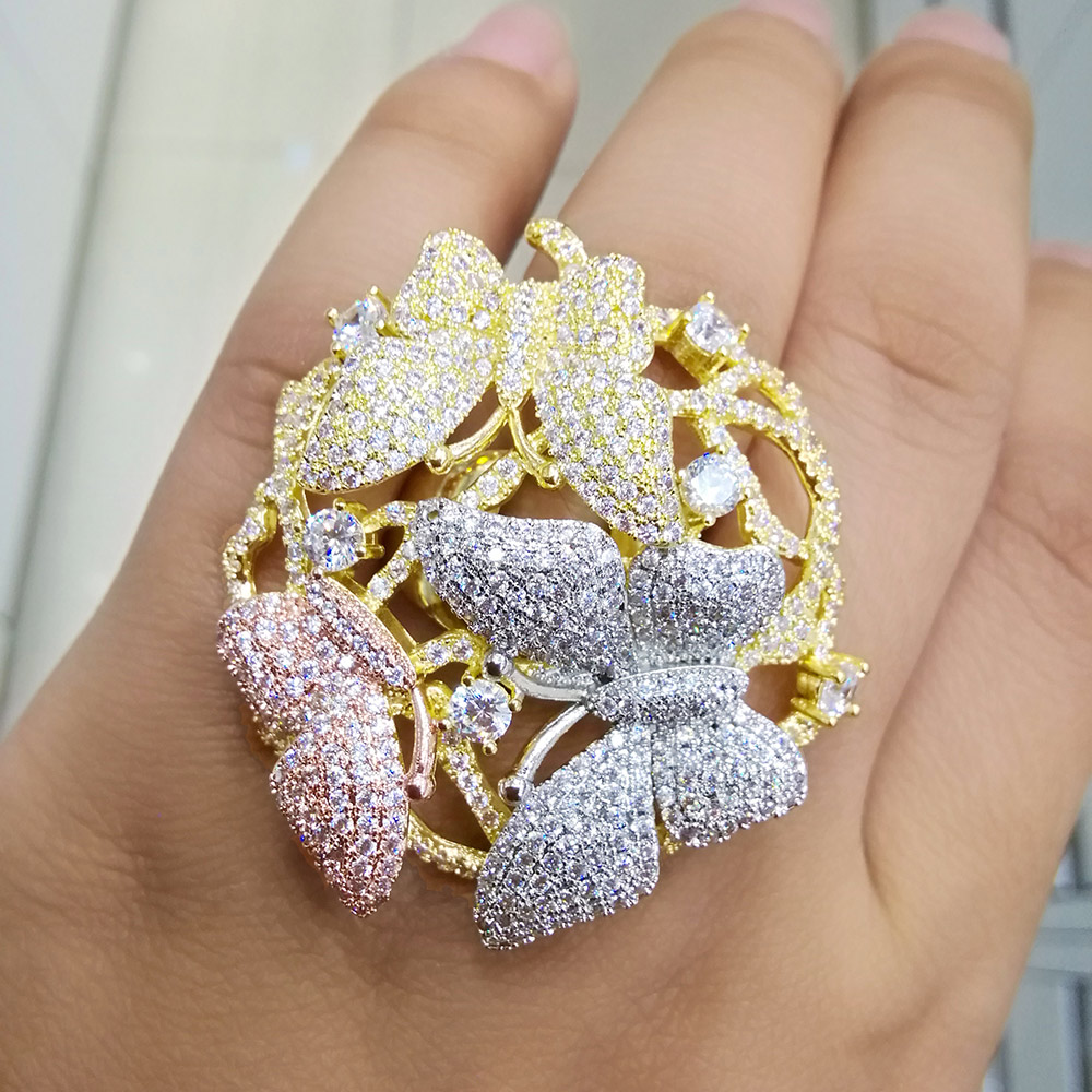 Capable Godki Famous Brand Luxury Fireworks Flowers Cubic Zironia Cz Statement Big Ring For Women Wedding Dubai Bridal Finger Rings 2018 Profit Small