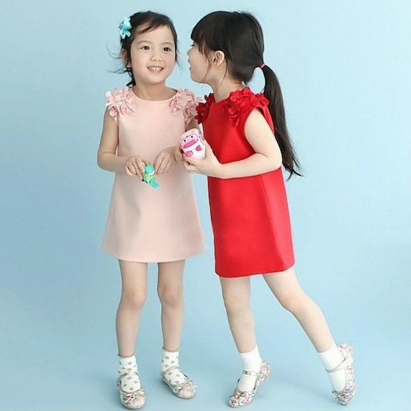 Girls Summer Dress Casual Dresses Kids Clothing Children Clothing Flower Sleeveless Cotton Girls' Dresses for 2-8Y Kids Wear 1