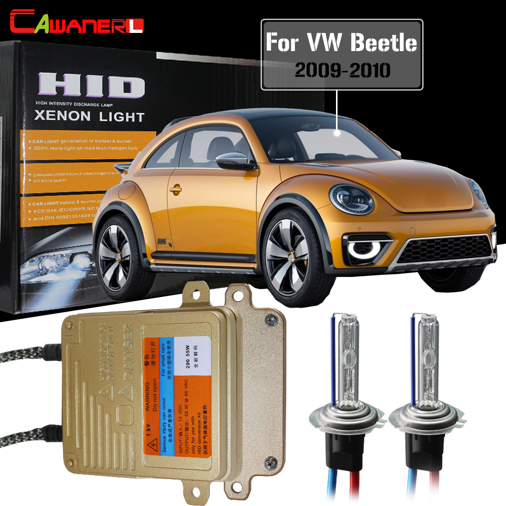 Cawanerl 55W H7 Car HID Xenon Kit Lamp Canbus Ballast AC Auto Light Headlight Low Beam For VW Volkswagen Beetle 2009-2010Cawanerl 55W H7 Car HID Xenon Kit Lamp Canbus Ballast AC Auto Light Headlight Low Beam For VW Volkswagen Beetle 2009-2010