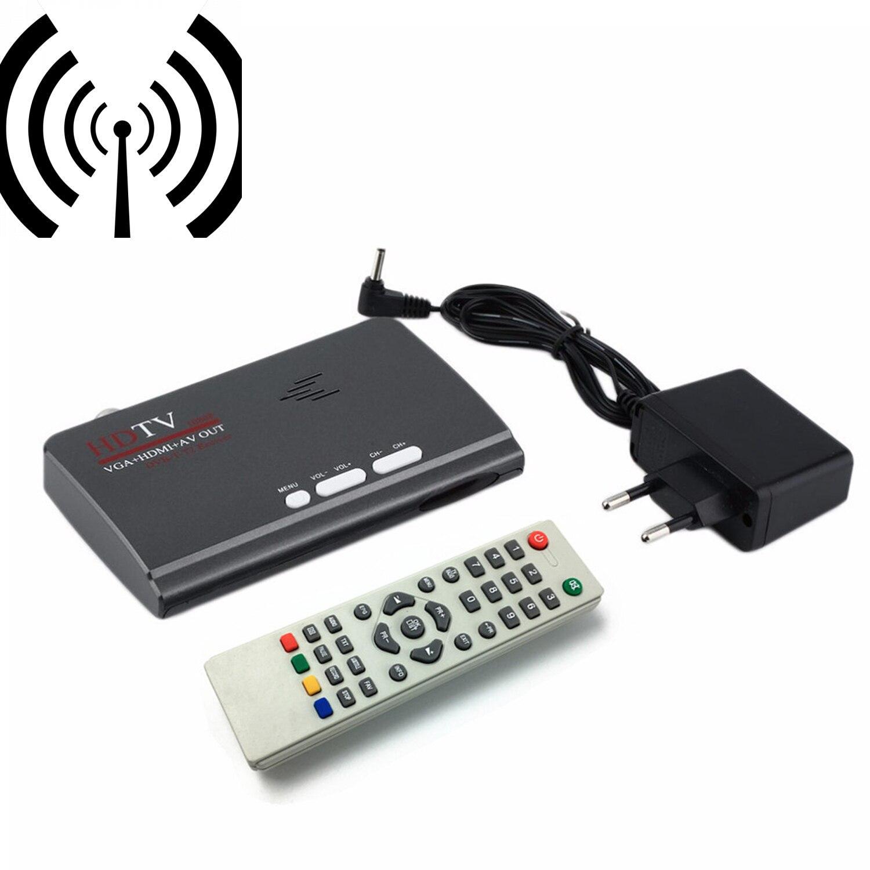 Digitalen Terrestrischen HDMI 1080 p DVB-T/T2 TV Box VGA AV CVBS Tuner Receiver Mit Fernbedienung Hochwertige