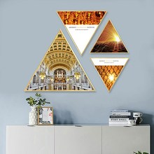Creative ins Golden building restaurant decoration painting hotel home mural kitchen Hanging