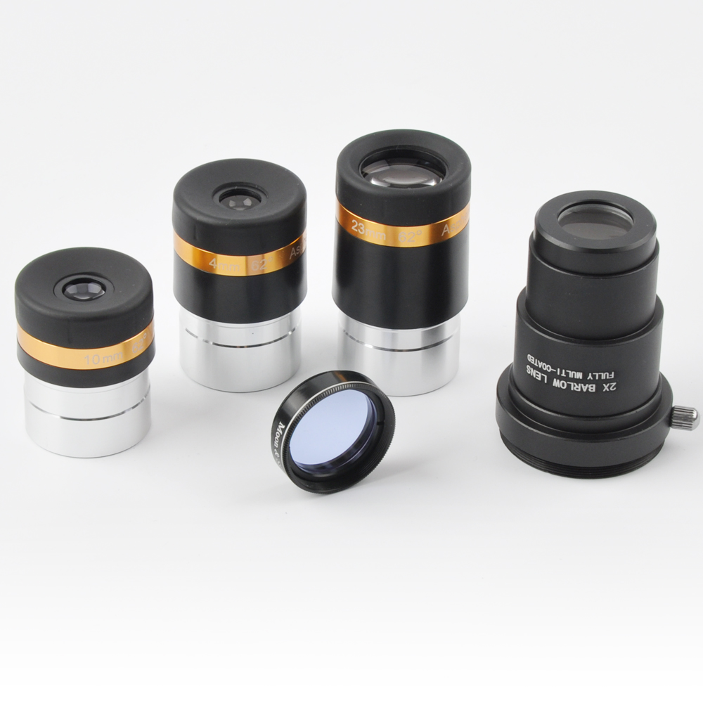 telescope eyepiece set aspheric 4 10 23mm wide angle 62 deg eyepiece metal inch 2x. Black Bedroom Furniture Sets. Home Design Ideas