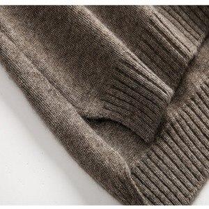 Image 5 - BELIARST 19 jesienno zimowy 100% czysty sweter z wełny damski wysoki kołnierz luźny sweter zwiewny sweter duży rozmiar był cienki