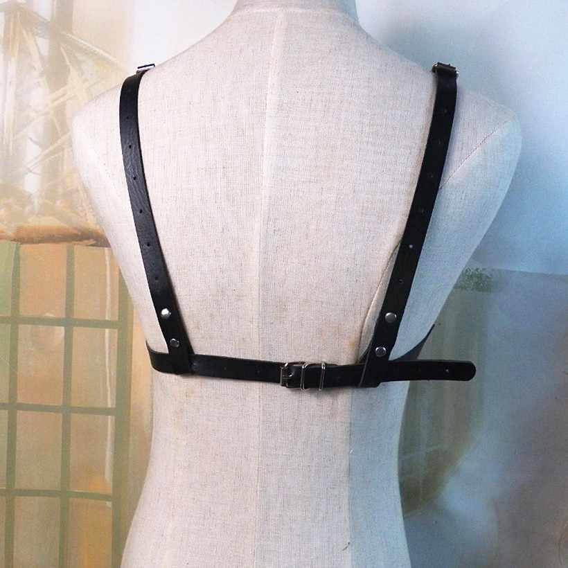 BDSM Bondage Touw Lederen Harnas Speelgoed Voor Vrouwen Volwassen Spel Outfit Beha En Been Bretels Bandjes Garter Riem Sexy Accessoires
