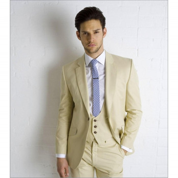 Men's Wear High Quality Men Suits Groomsmen Custom Wedding Suit One Button Three Piece Suit Wedding Suit(Jacket+Pants+vest) A027