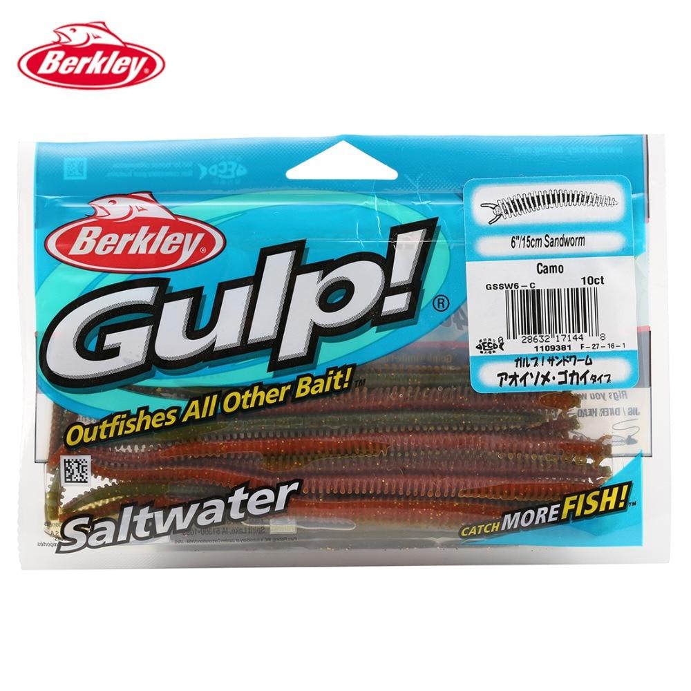 Berkley brand gulp gssw6 15cm 6 10p lot 3 colors worm for Berkley fishing com