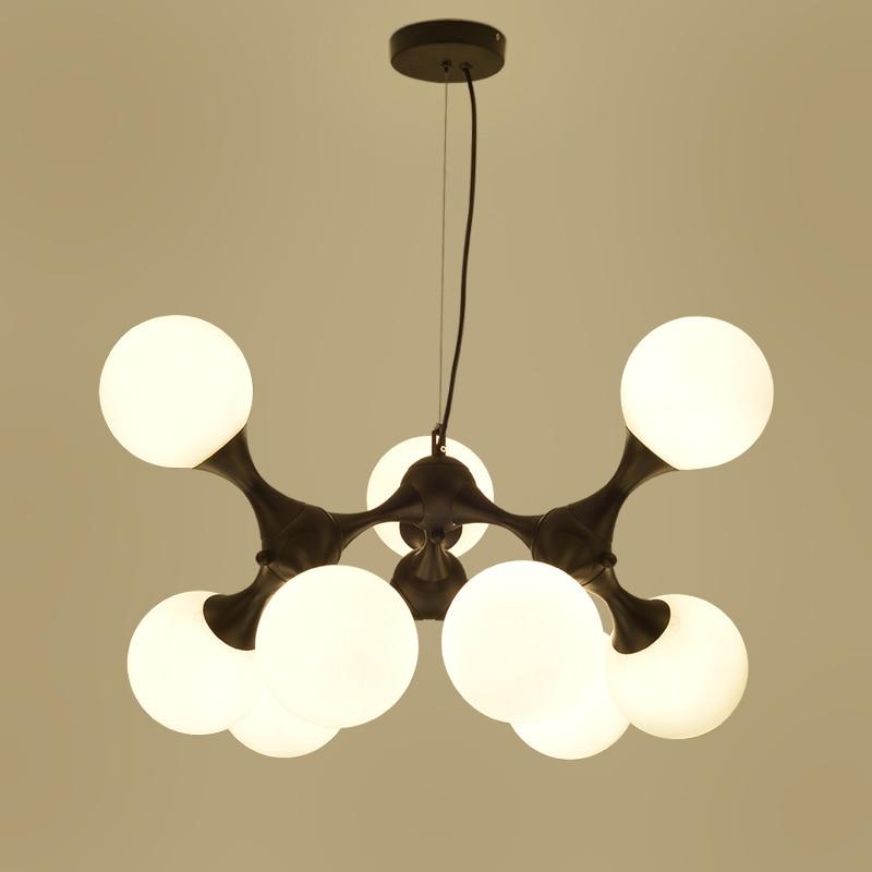 New Modern Nordic Lustre DNA Glass Ball Pendant Lights Home Lighting Dining roompendant Lamp Nordic Art Deco hanging lighting 4pcs new for ball uff bes m18mg noc80b s04g
