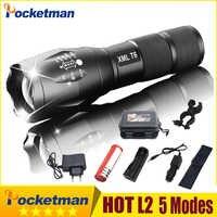 2019 chaud 50000LM XM-L V6 LED lampe de poche tactique en aluminium lumière Zoomable lampe de poche lampe torche pour 18650 ou 3 * AAA z75