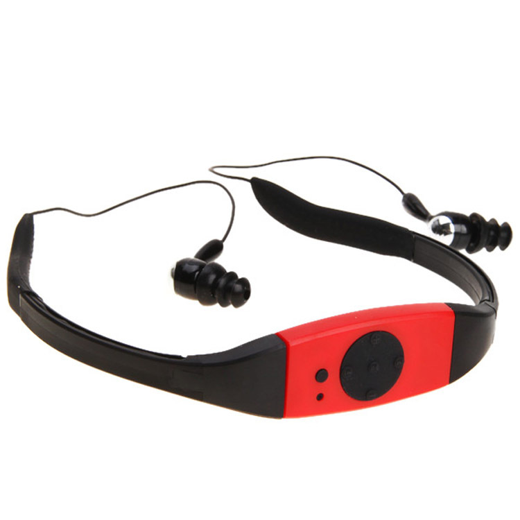 IPx8 headset wearing hanging sport MP3 running water diving swimming waterproof U disc MP3 radio