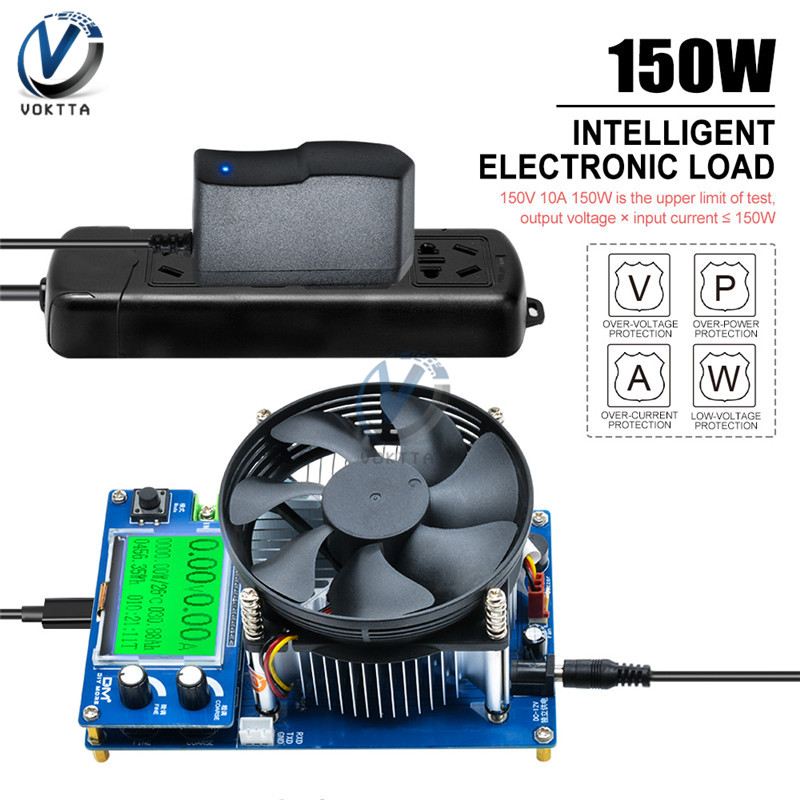 150W Digital Battery Capacity Tester Electronic Load Intelligent Adjustable Constant Current Discharge Resistance Power Tester