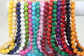 14MM Natural Coral Stone Beads African Fashion Beaded Wedding Necklace Charms Statement Necklace 16 Colors Christmas Gift ABH229