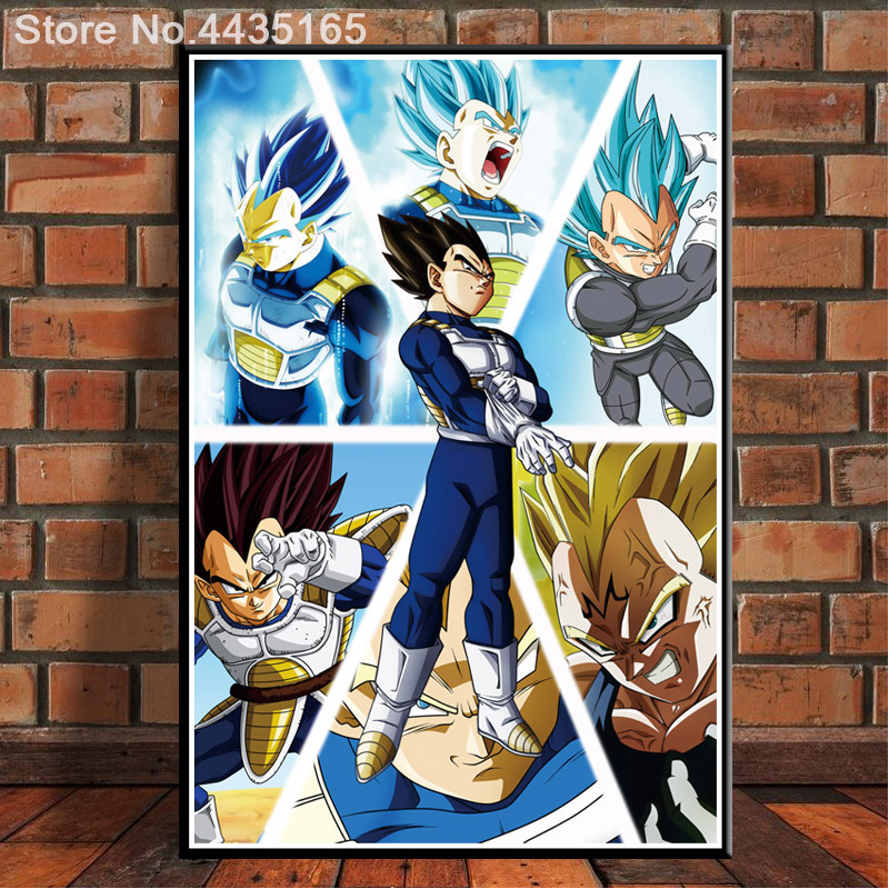 35x53 Dragon Ball Z Super Poster Vegeta from Normal to Ultra