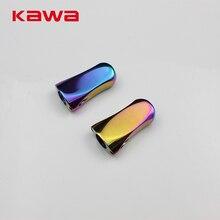 Kawa 2017 New font b Fishing b font Knob Rainbow Color Alloy Alluminum Casting and Spinning