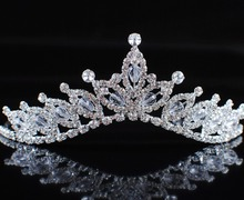 Romantic Floral Tiaras Handmade Crowns Flowers Crystal Austrian Rhinestone Bridal Wedding Pageant Prom Headband Hair Jewelry