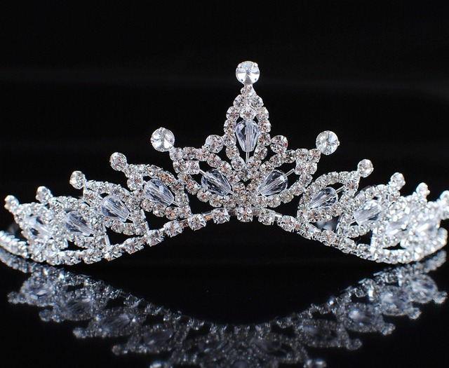 Romantic Floral Tiaras Handmade Crowns Flowers Crystal Austrian Rhinestone  Bridal Wedding Pageant Prom Headband Hair Jewelry cae823b5d4ab