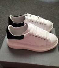 Genuine Leather British London Fashion Lace Up Casual Shoes Platform Lace Up Genuine Leather Shoes Oversized Flats