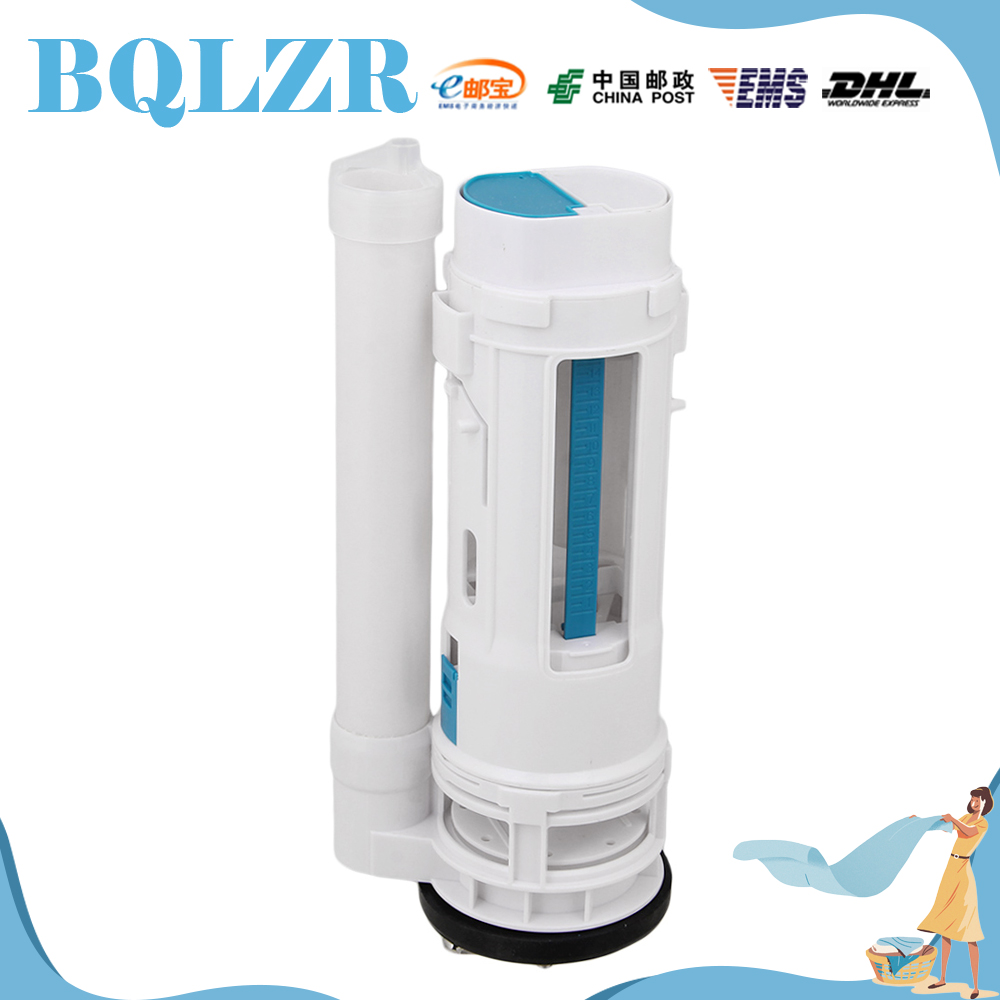 Bathroom cistern fittings - Bqlzr Toilet Cistern Dual Flush Push Button Valve 25cm Height Water Saving Type