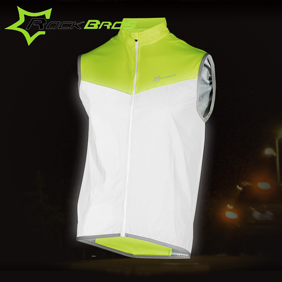 Men's Clothing Cycling Rockbros Reflective Cycling Sleeveless Jersey Outdoor Sporting Wind Vest Special Buy