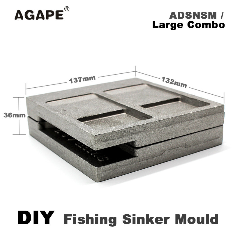 HOT SALE] Adygil DIY Fishing Roundhead Jig Mould ADRJHM