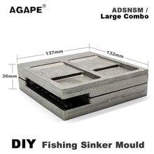 Agape DIY для рыбалки и морских окуней грузило, высокое качество пресс-форм ADSNSM/большой комбинированный рифовых и морских окуней грузило, высокое качество 112g 224g 336g 5 гнезд