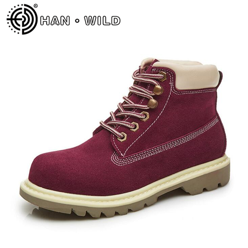 Fashion Casual Women Martin Boot Shoes Genuine Leather Women Winter Snow Boots Round Toe Lace Up Ladies Ankle Boots Work Shoes mens autumn winter round toe martin boots black genuine leather ankle plush short boots for men casual flat lace up cotton shoes