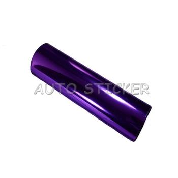 Purple Stretchable Chrome Mirror Car Wrap Vinyl With Air Bubble Free Vehicle Covering Flexible Chrome foil Sticker 1.52*20M/Roll