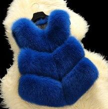2016 New Faux  fur vest women's Short  jacket winter Faux fur coat custom Plus Size Wholesale size S- XXXXL FREE SHIPPING
